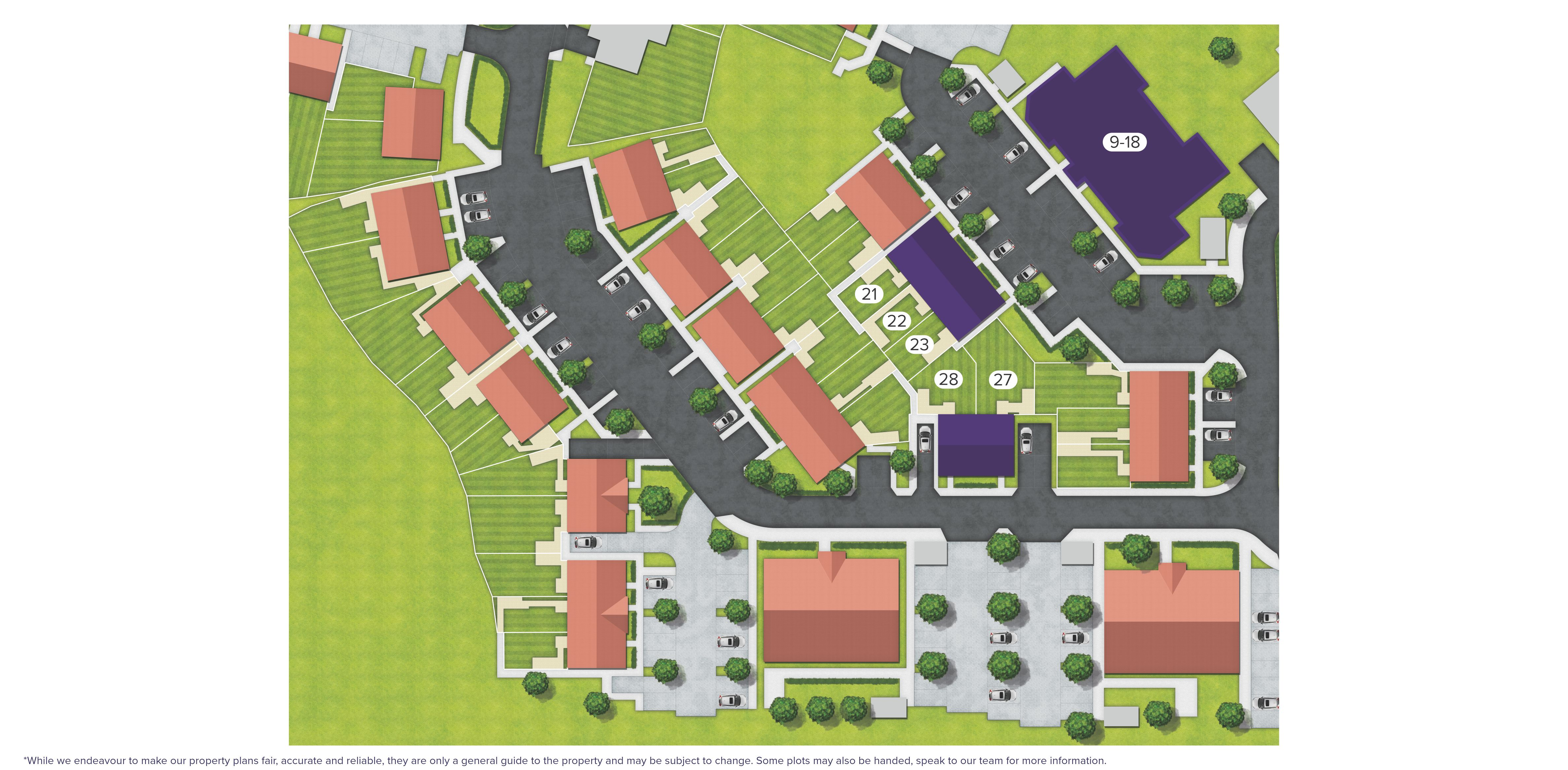 Carrington Place, Redhill site map