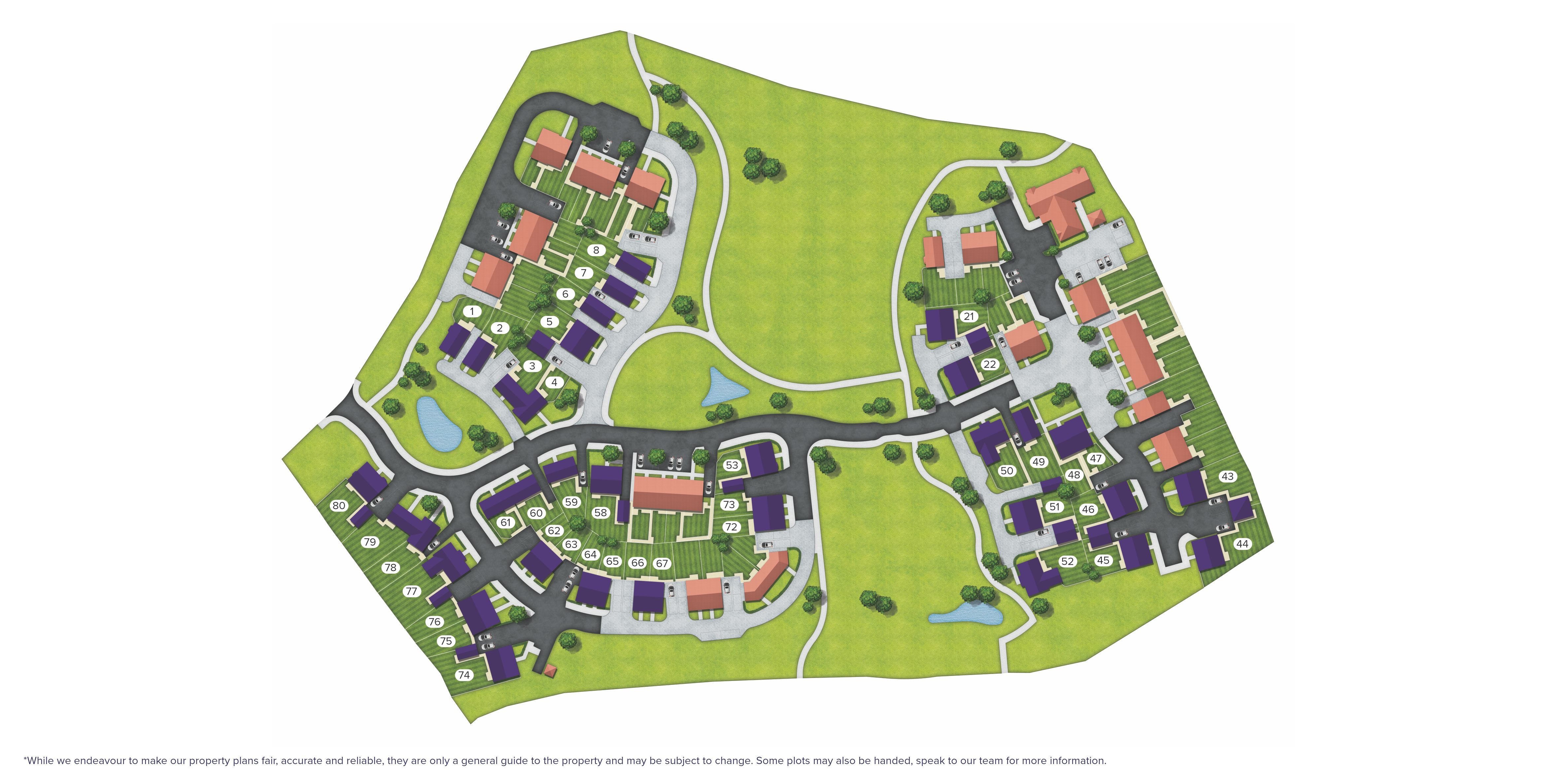 Loperwood Green, Totton site map