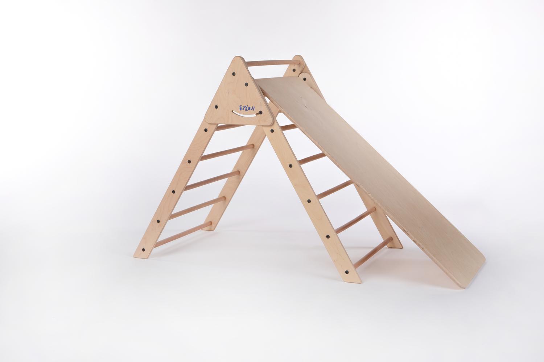 Triângulo de Pikler + Prancha Escorrega