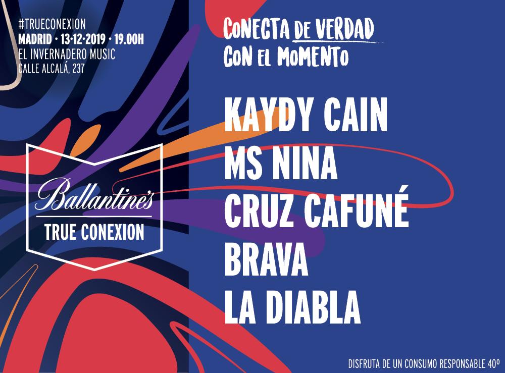 Ballantines_True_Conexion_Madrid_Kaydy_Cain_Ms_Nina_Cruz_Cafune_Brava_La_Diabla_Invernadero