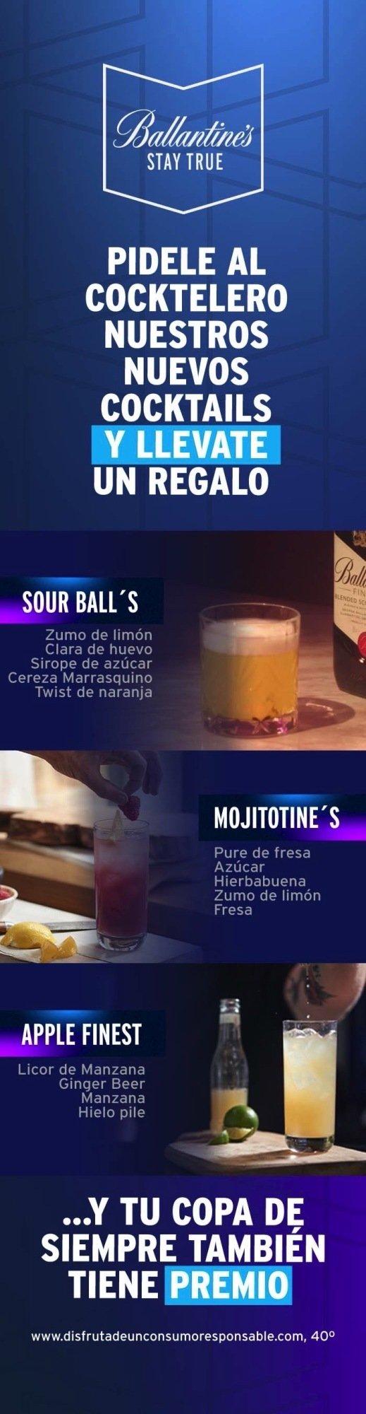 Carta de Cocktails Ballantine's