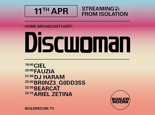 BOILER ROOM X BALLANTINE'S   Streaming from Isolation   Discwoman