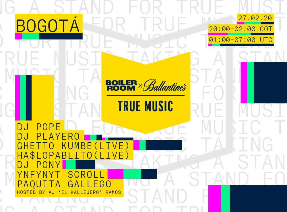 BOILER ROOM X BALLANTINE'S | TRUE MUSIC | BOGOTA