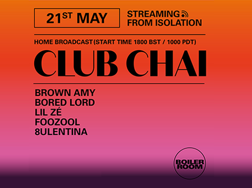 Ballantines   Boiler Room Streaming From Isolation   Club Chai