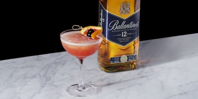 Ballantine's Sweet Citrusy Whisky Cocktail Frozen Blood & Sand
