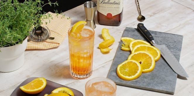 Ballantine's Scotch Whisky Cocktail Aperballa Spritz