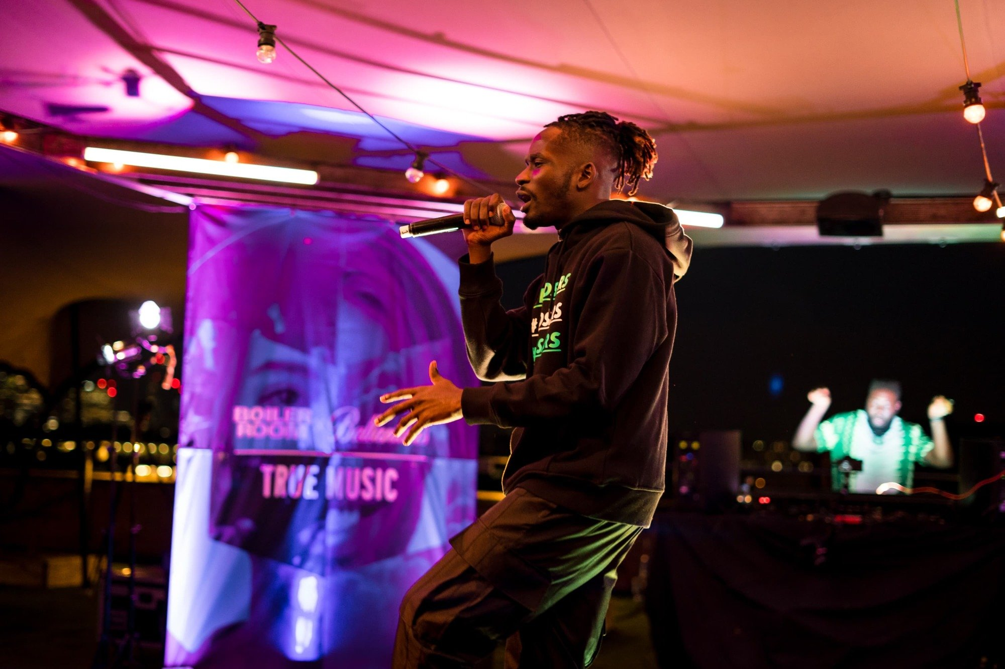 Ballantines Boiler Room True Music In The Round Mr Eazi performing