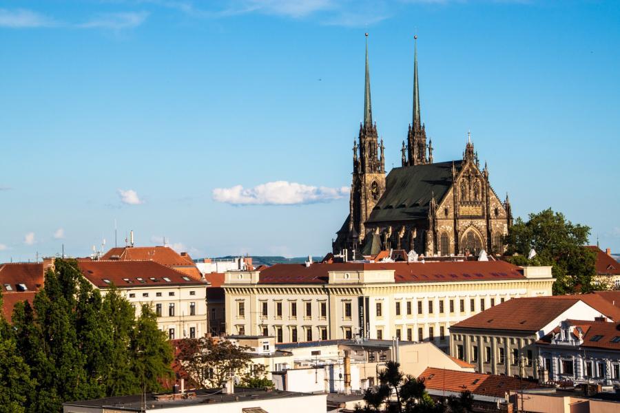 Bygninger og kirke i Brno