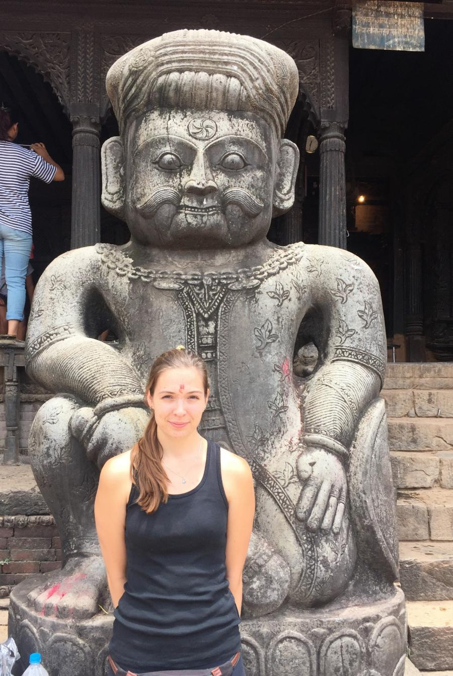 Cecilie i Kathmandu