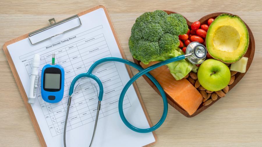 mat og stetoskop