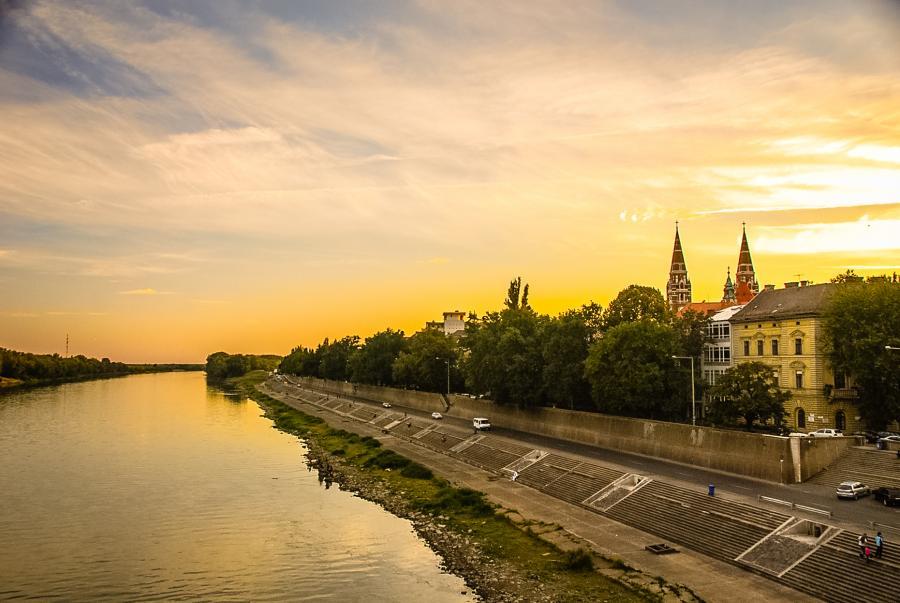 Elv i byen Szeged