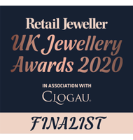 Retail Jeweller's logo showing biiju as a finalist for Jewellery Designer of the Year in the UK 2020 Awards