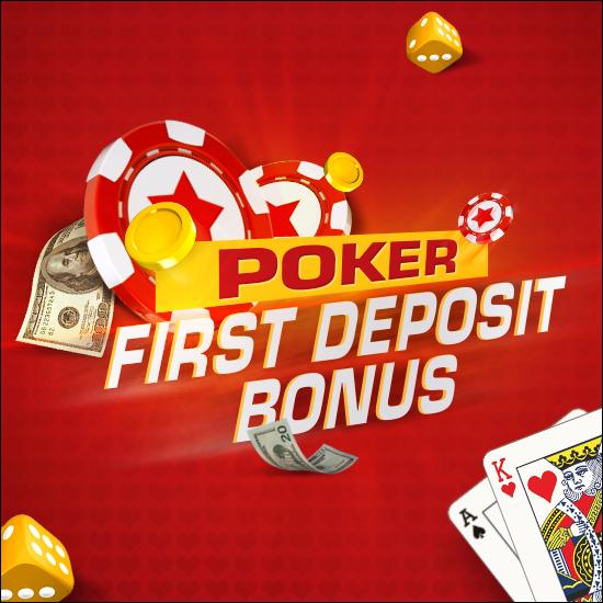 First deposit bonus in our poker room!