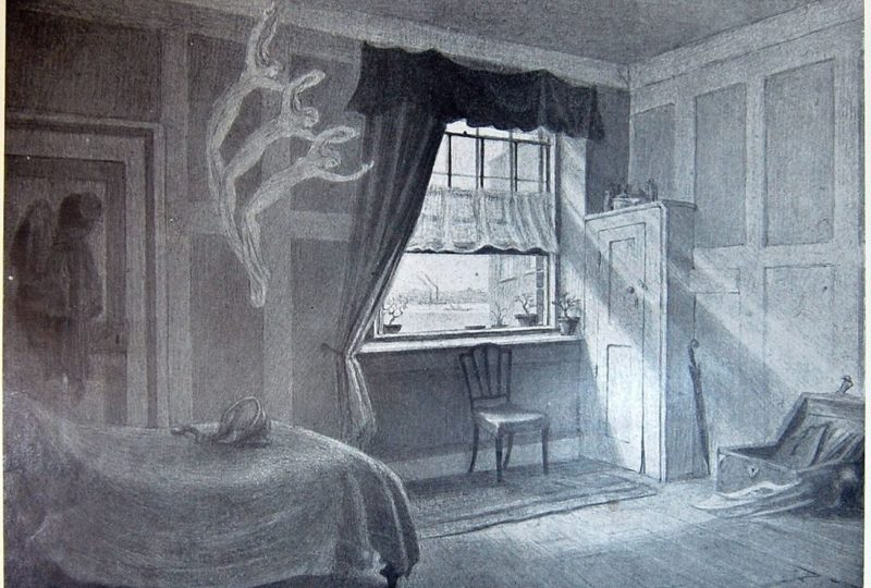 William Blakes work room and death room by Frederic Shields 1