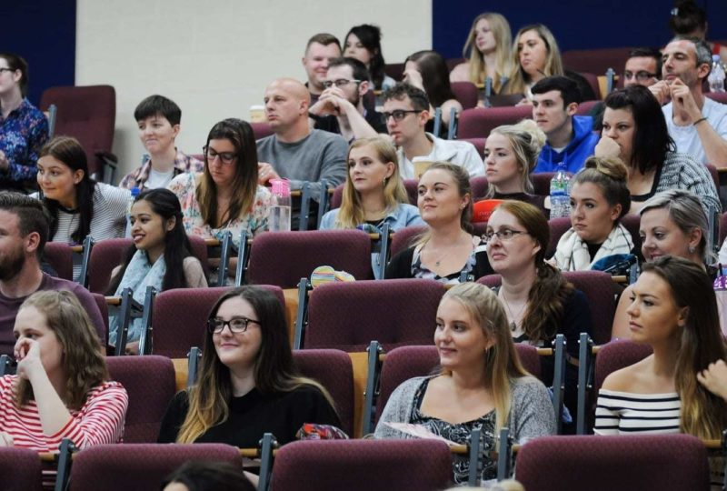 Lecture theatre students 2 of 3