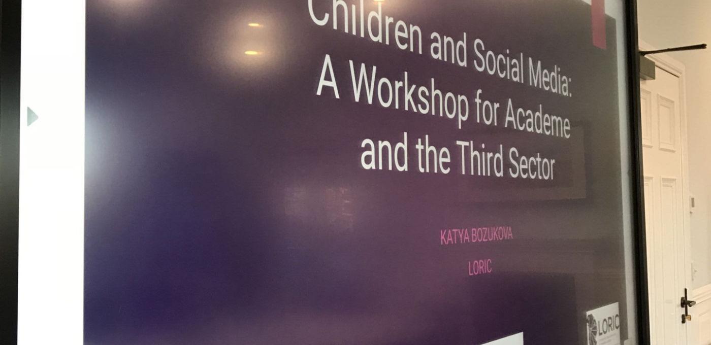 Children social media workshop