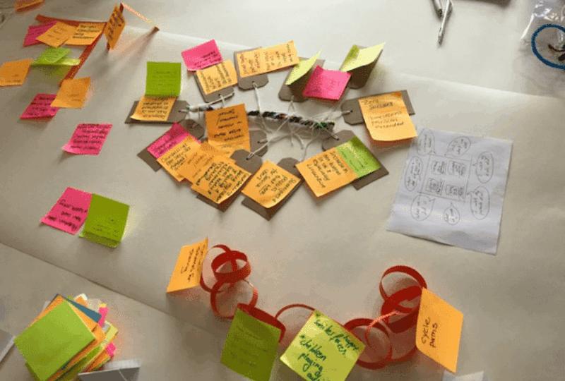 Ideas on sticky notes