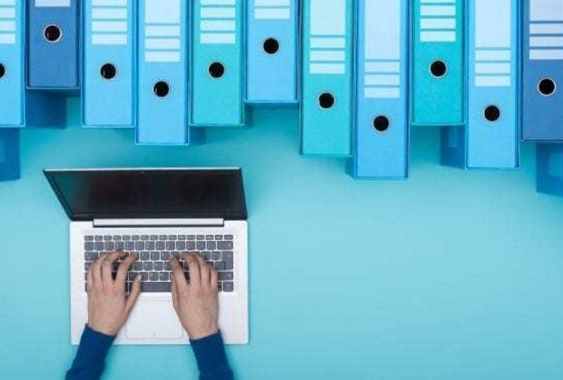 Laptop blue