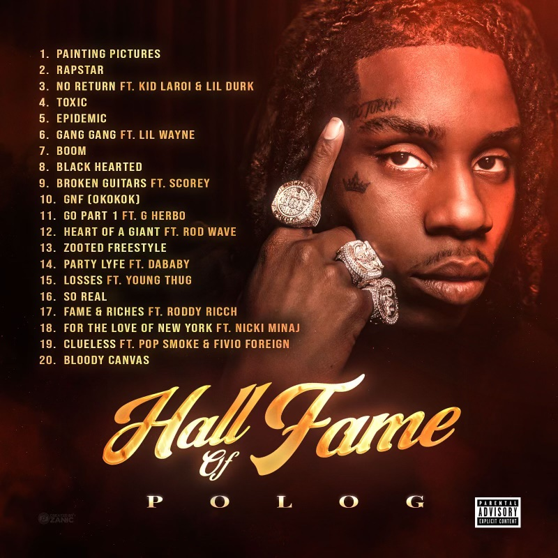 Polo G's Highly-Anticipated 'Hall Of Fame' Album Has Arrived Ft Nicki Minaj, Lil Wayne + More