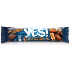 YES! Ořechová tyčinka smandlemi & mořskou solí vhořké čokoládě