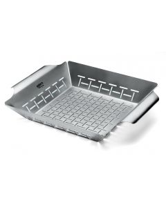 Weber - Deluxe Grilling Basket, Built for Q 300/3000 and Larger Gas Grills, ACC_OTH 6434