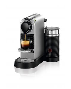 Nespresso - CitiZ & Milk Silver Coffee Machine, C122-SI