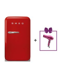 Smeg - Single Door Refrigerator, 33 L, FAB5RRD