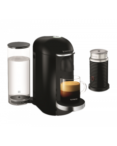Nespresso - Vertuo Plus Coffee Machine & Aero Black, Black Deluxe, GCB2-BU-BK