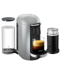 Nespresso - Vertuo Plus Coffee Machine & Aero Black, Silver Deluxe, GCB2-BU-SI