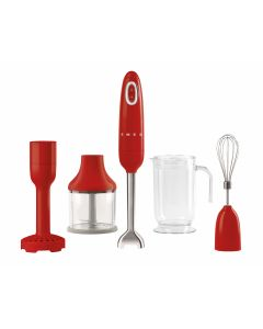 SMEG Hand Blender with Accessories Red - HBF02RDUK