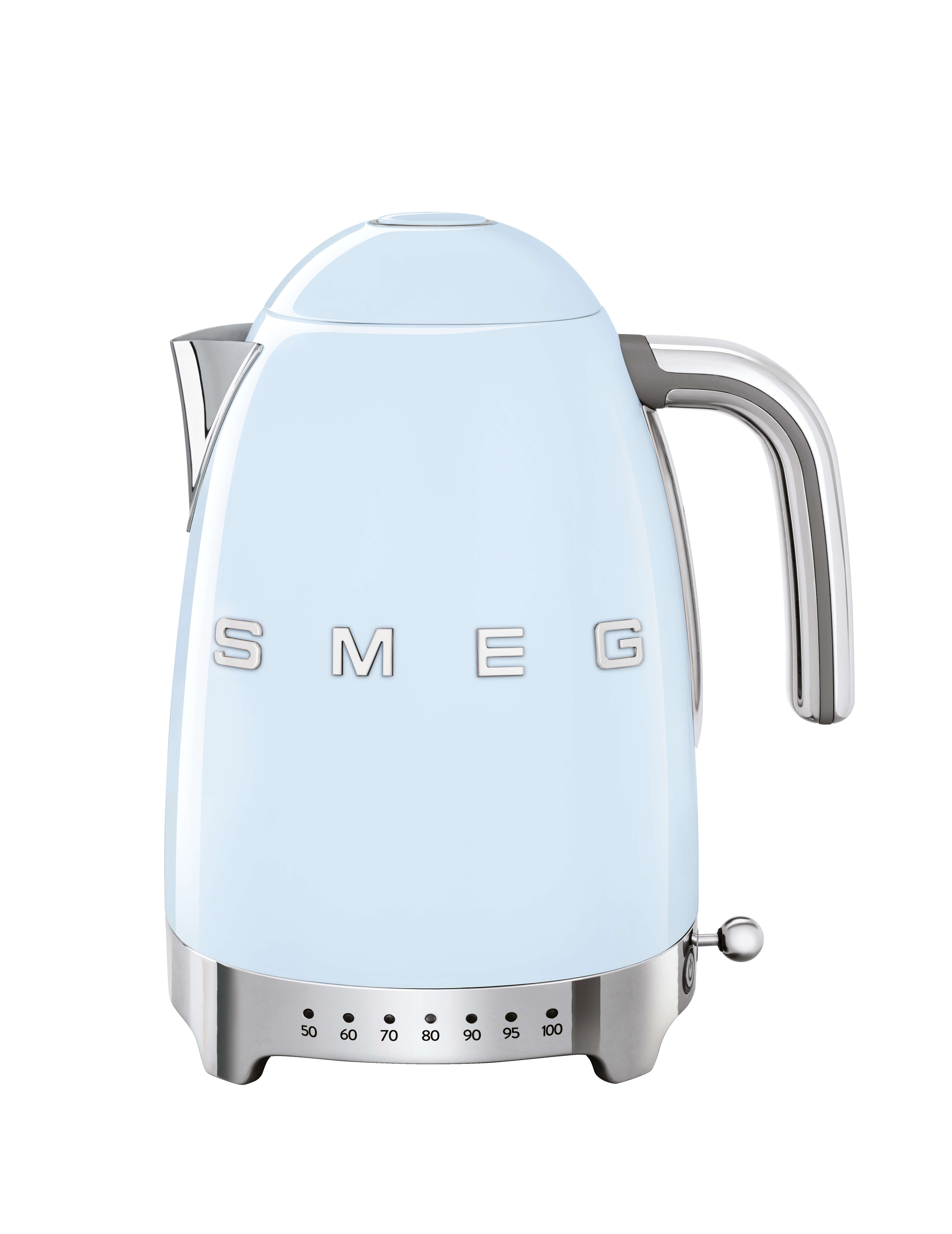 SMEG Variable Temperature Kettle 1.7L Pastel Blue - KLF04PBUK