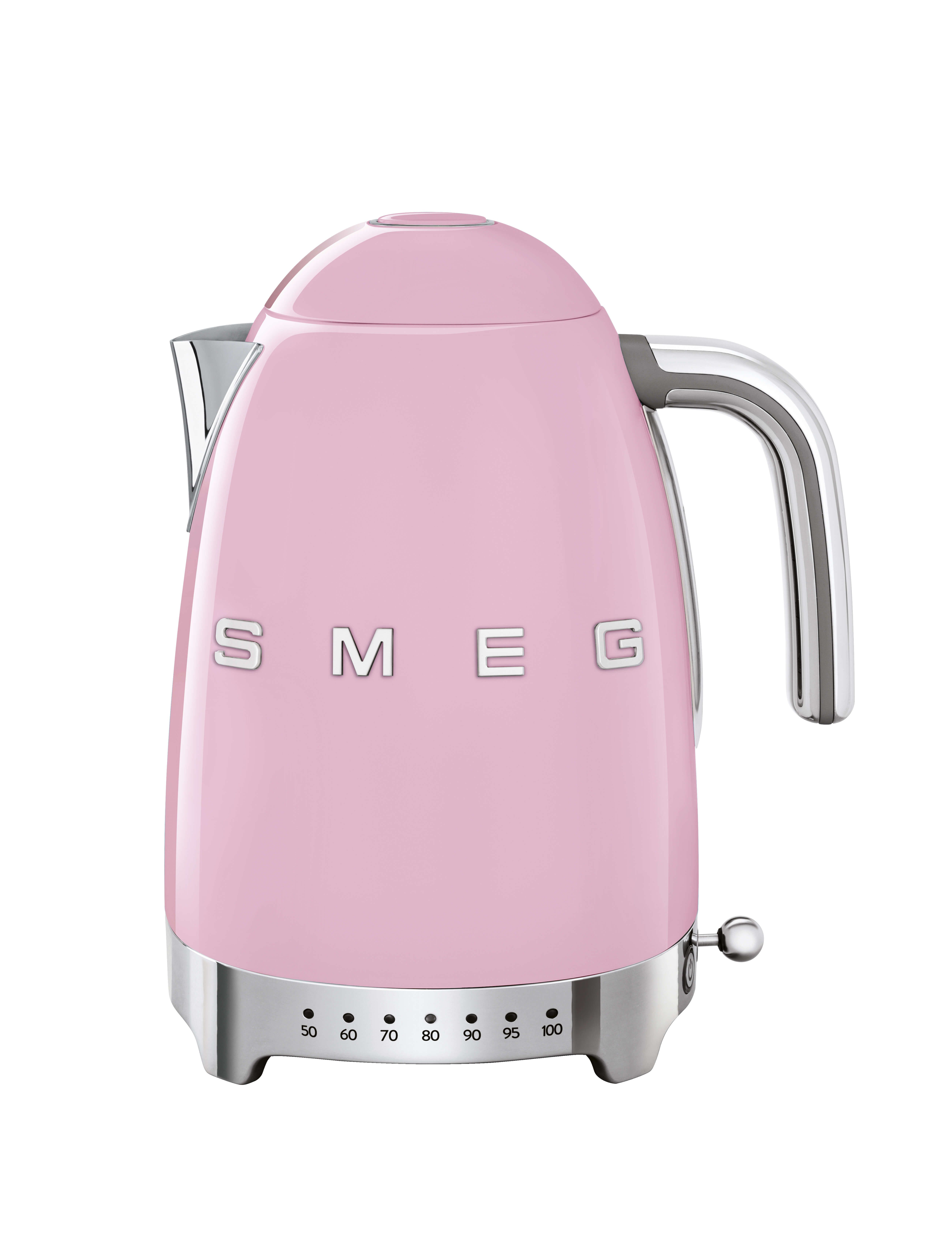 SMEG Variable Temperature Kettle 1.7L Pink - KLF04PKUK