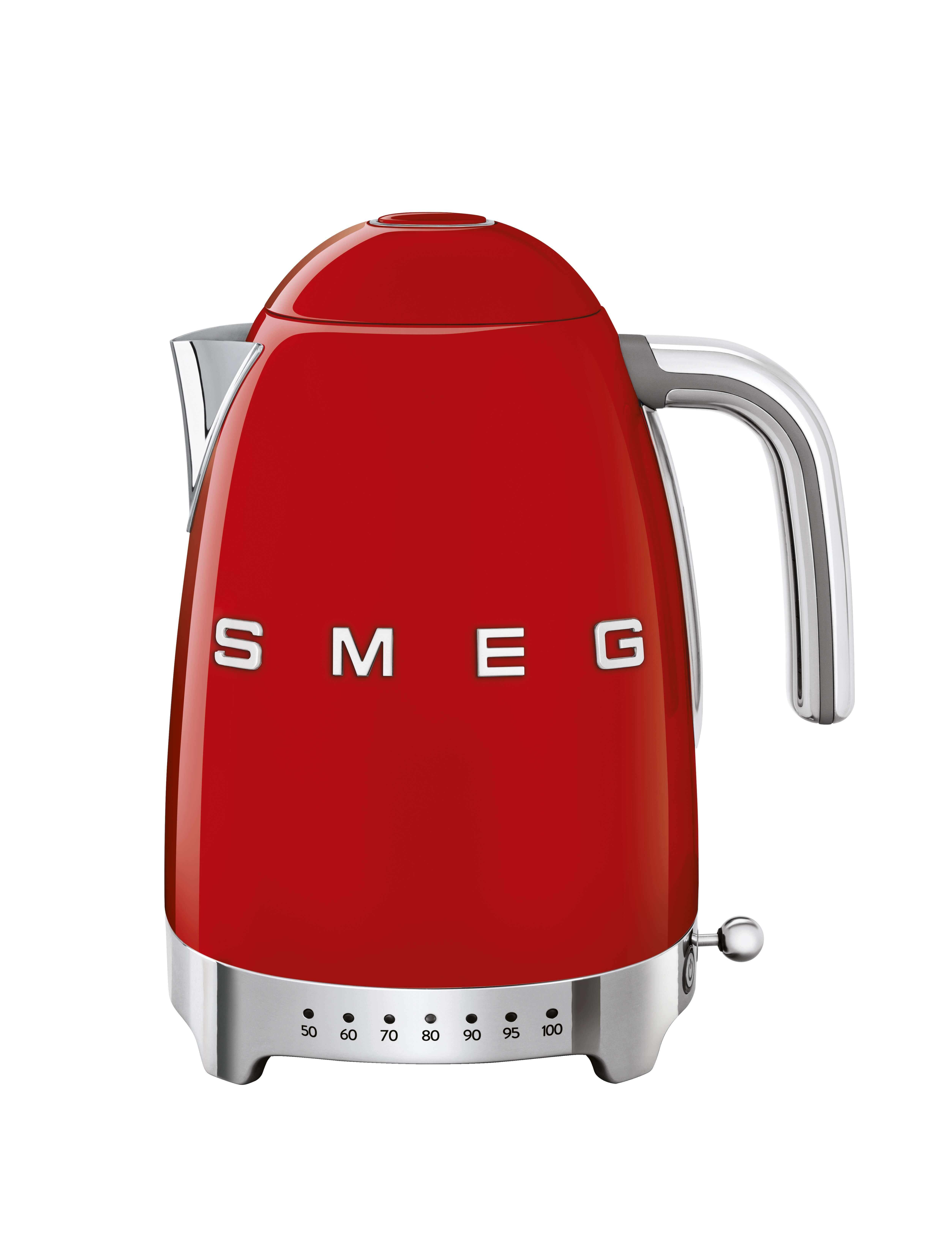 SMEG Variable Temperature Kettle 1.7L Red - KLF04RDUK