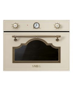 SMEG Microwave with Grill Oven 50L Cream Old Brass - SF4750MPO