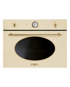 SMEG Microwave with Grill Oven 50L Cream Gold Finishing - SF4800MCP