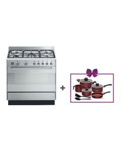 Smeg - Combination Cooker, 90 cm, SUK91MFX9