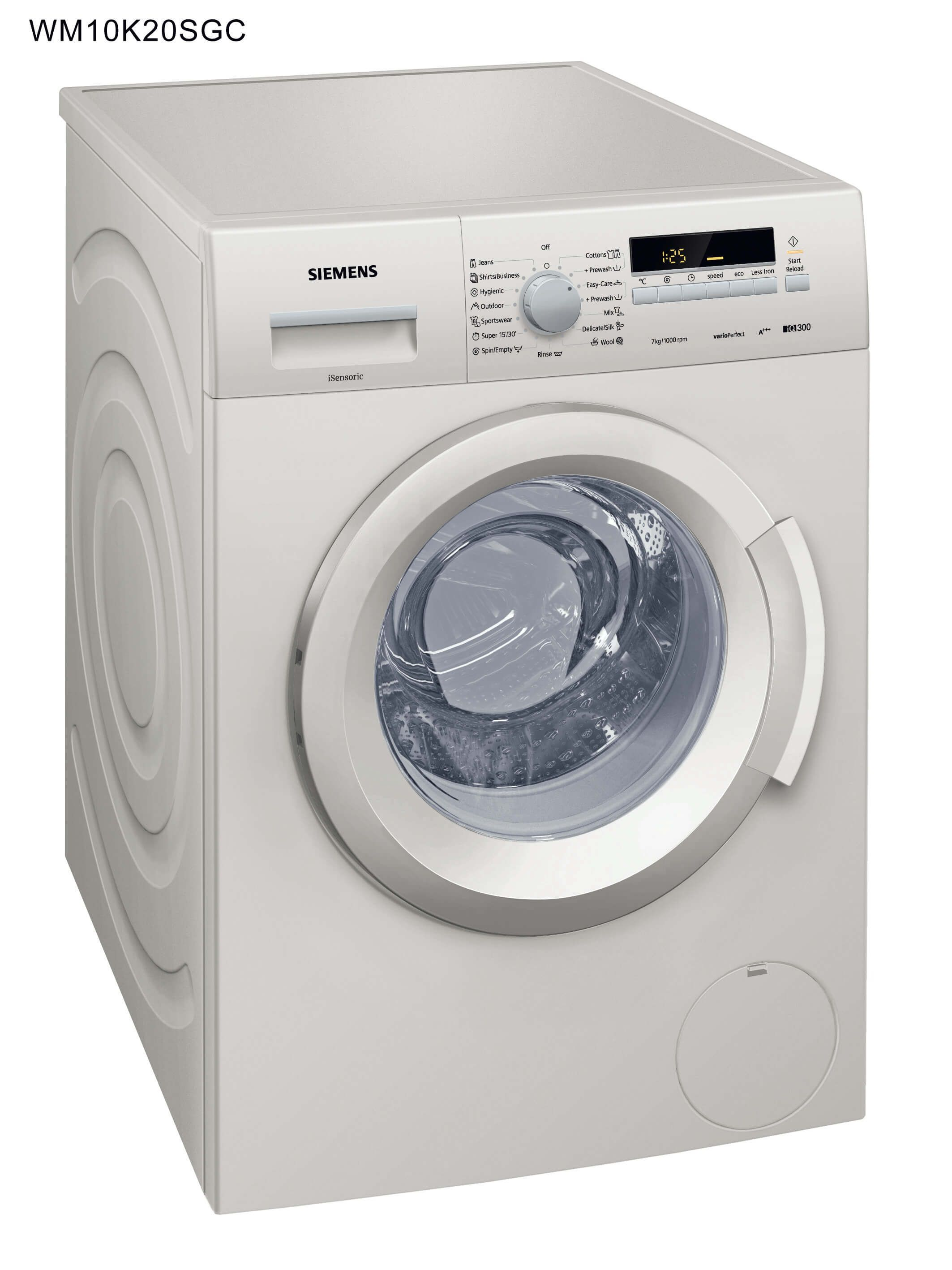 Siemens Washer 7 Kg, Silver - WM10K20SGC