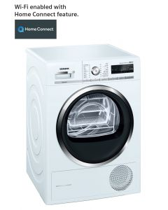 Siemens - Home Connect 9 Kg Heat-Pump Tumble Dryer, WT4HW560GC