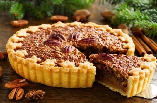 Smoked Maple Pecan Tart with Ricotta Cream