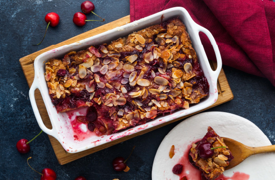 Blackberry & Almond Bread and Butter Pudding