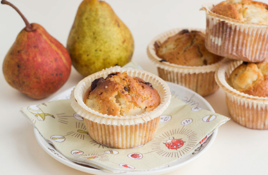 Chocolate and Pear Muffins