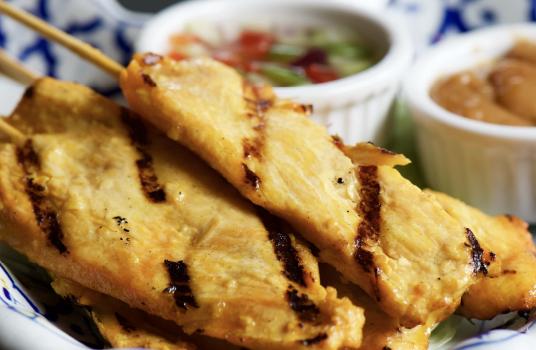 Parsley Orange Chicken Sticks with Tzatziki Dipping Sauce