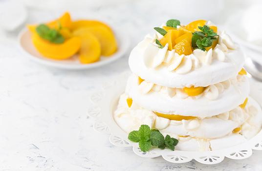 Peaches and Cream Pavlova