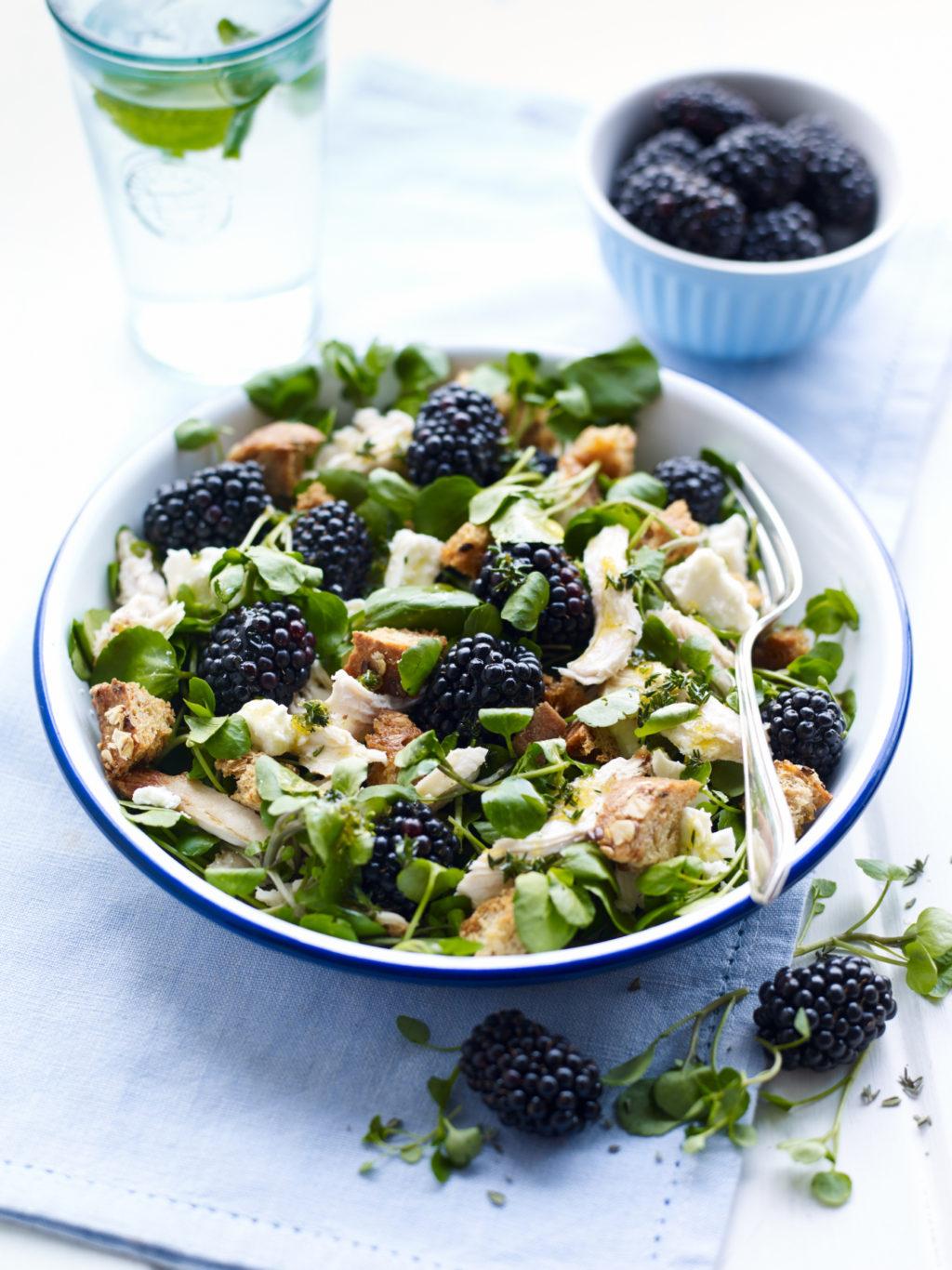 Berry World Chicken and Blackberry Salad 75isq2au2