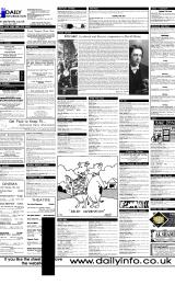 Daily Info printed sheet Tue 13/6 2000