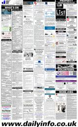 Daily Info printed sheet Fri 20/3 2015