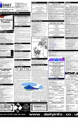 Daily Info printed sheet Tue 30/1 2001