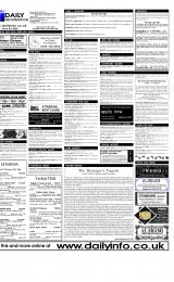 Daily Info printed sheet Thu 25/5 2000