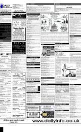Daily Info printed sheet Fri 16/6 2000