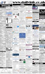 Daily Info printed sheet Fri 21/2 2014